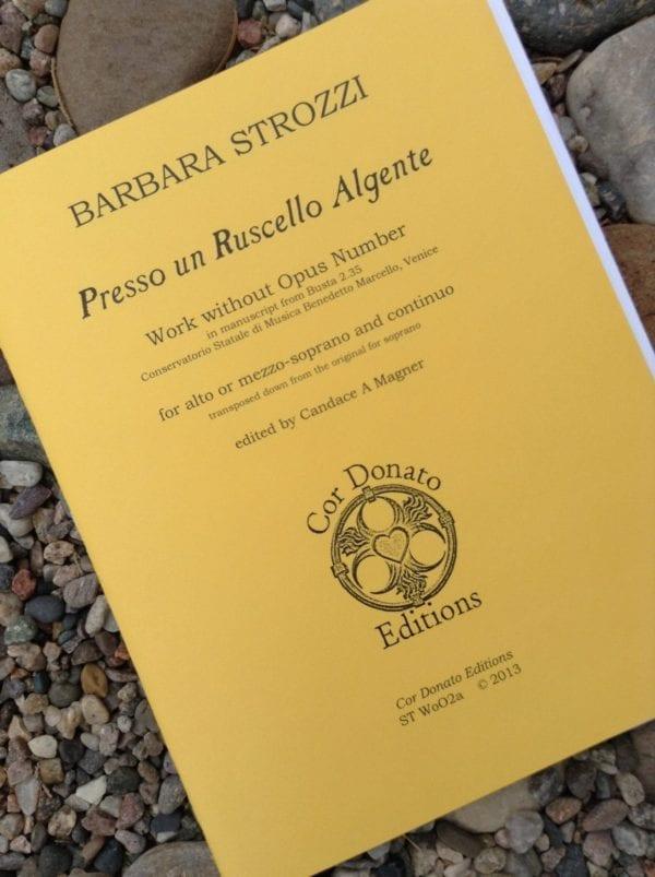 Barbara Strozzi: Presso un Ruscello Algente, Mezzo-Soprano or Alto
