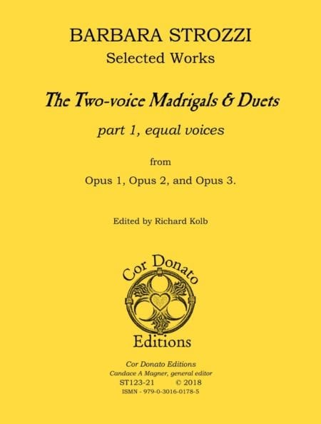 The Two-voice Madrigals & Duets, Part 1 (for equal voices) - Cover Image