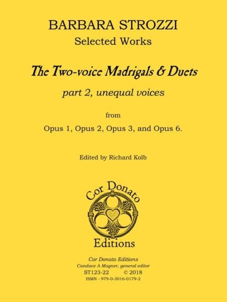 The Two-voice Madrigals & Duets, Part 2 (for unequal voices) - Cover