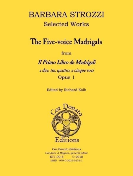 Barbara Strozzi, The Five-Voice Madrigals